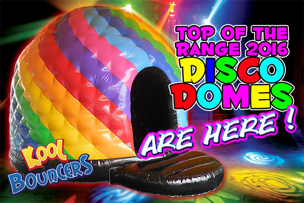 bouncy castle hire in Cambourne featuring disco domes
